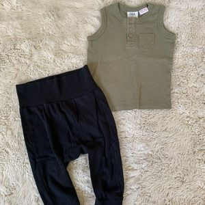 Zara top + H&M joggers bundle